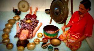 singing bowl therapy at Aranya yoga