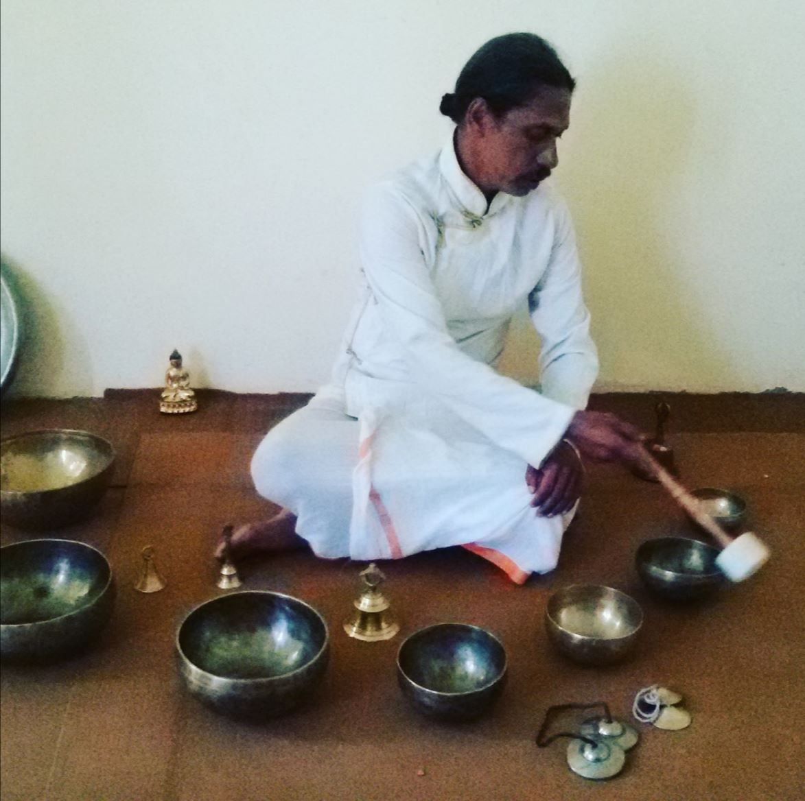 sound bath at Aranya Yoga