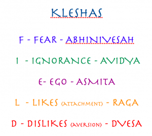 The Kleshas-The 5 Hindrances on the path of Yoga